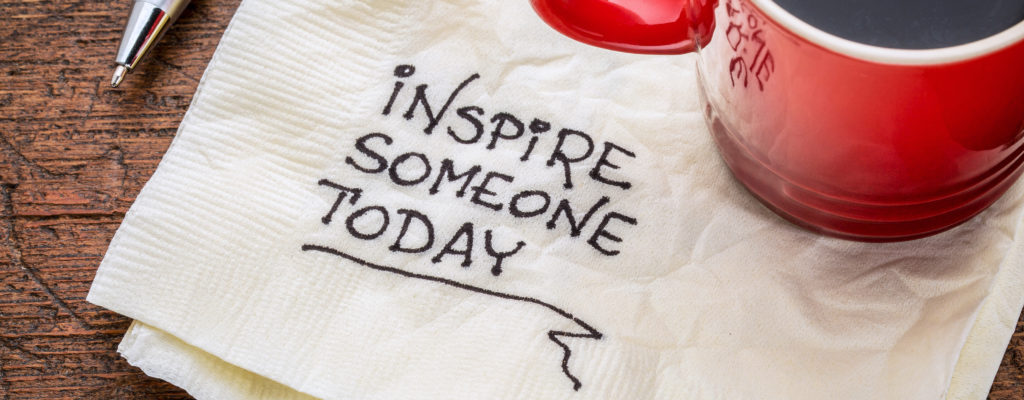 inspire someone today – motivational handwriting on a napkin wit