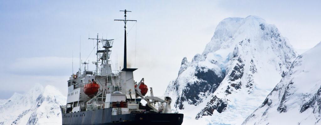 Big Ship In Antarctica